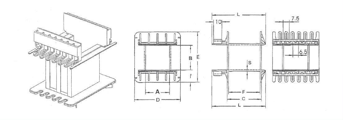 EI150 Bobbin Flange Detail