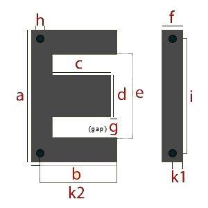 Air Gapped Transformer Lamination Dimensions